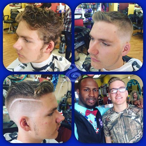 Bald Fade With Hard Line By Michael